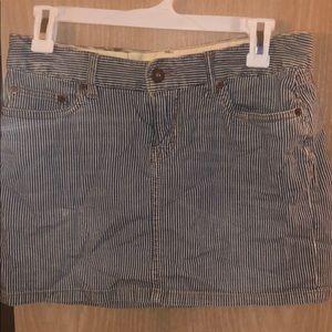 Denim stripes mini skirt